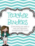 Teacher Binders {Everything you need to keep you organized!}