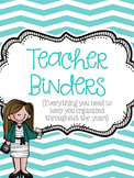 Teacher Binders {Everything you need to keep you organized!}