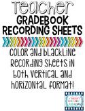 Teacher Gradebook Recording Sheets
