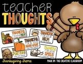 Teacher Notes Thanksgiving Theme