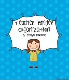 Teacher Organizational Tool Teacher Binder