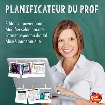 Teacher Planner // Editable // Print color or B&W