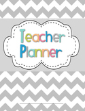 Teacher Planner / Organizer (blue, pink, peach, lime, teal theme)