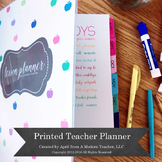 Teacher Planner (Printed and Bound)