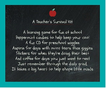 Teacher Survival Kit Poem