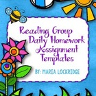 Reading Group Daily Homework Assignment Templates