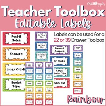 Teacher Toolbox - Perfect Patterns - Chalkboards (Editable)