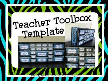 Teacher Toolbox Template - Editable