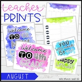 TeacherPRINTS August {teacher stationary and printables}