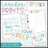 TeacherPRINTS September {teacher stationary and printables}