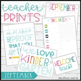 TeacherPRINTS September {teacher stationary and printables}