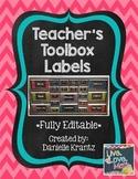 Teacher Toolbox Labels - Bold Chevron - Editable