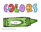 Teaching Colors Unit