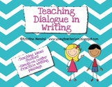 Teaching Dialogue in Writing {Freebie!}