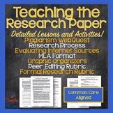 Research Paper Essay Unit - MLA, Plagiarism, Effective Res