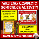 How to Write Complete Sentences Activity