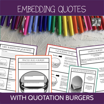 Teaching the Embedded Quotation with Quotation Burgers, ELA 7-12