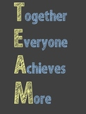 Team and Cheer Poster- Chalkboard Style