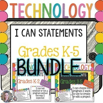 https://www.teacherspayteachers.com/Product/Technology-I-Can-Statements-for-the-Computer-Lab-K-5-BUNDLE-1121281