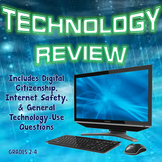 Technology Review Task Cards / Quiz for Grades 2 - 4