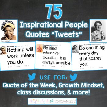 Technology Twitter Theme Classroom Decoration: Inspirational People with Quote