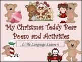 Christmas Teddy Bear Poem and Activities