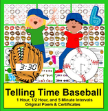 Telling Time Clocks Math Centers: Play Catch at 3 Levels -