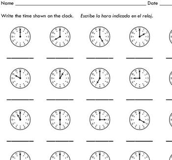 Time To The Hour - Lessons - TES Teach