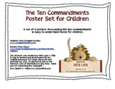 Ten Commandments Poster Set for Children