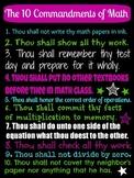 Ten Commandments of Math Poster