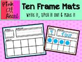 Ten Frame Mats - Write it, Spell it out, Make it
