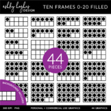 Ten Frames 0-20 {Graphics for Commercial Use}