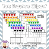 Ten Frames Clipart - 162 graphics!