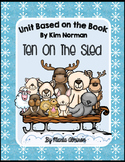 Ten on the Sled mini-book and activities based on the book