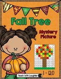 Tens and Ones Place Value Mystery Picture (Fall Tree) 1-120