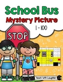 Tens and Ones Place Value Mystery Picture (School Bus)