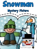 Tens and Ones Place Value Mystery Picture (Snowman)