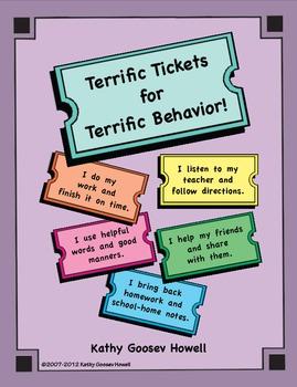 Terrific Tickets for Terrific Behavior