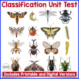 Classification, Taxonomy and Diversity of Life Unit Test