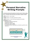 Test Formatted Personal Narrative Writing Prompts