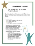 Test Passage - Poetry: Mr. Nobody by Walter De La Mare