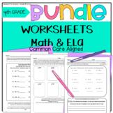 Test Prep 4th Grade Morning Work BUNDLE Go Math! & ELA Cha