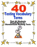 Test Prep- 40 Test Taking Reading Vocabulary Terms All Stu