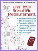 Scientific Measurement Test (Metric System, Scientific Not