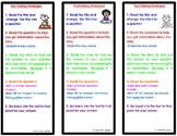Test Taking Strategies Bookmark