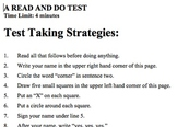 Test Taking Strategies / Follow Directions Prank/Fake Quiz