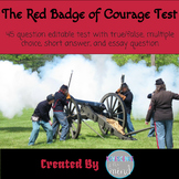 Test over Red Badge of Courage with Answers