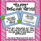 Happy Behavior Notes