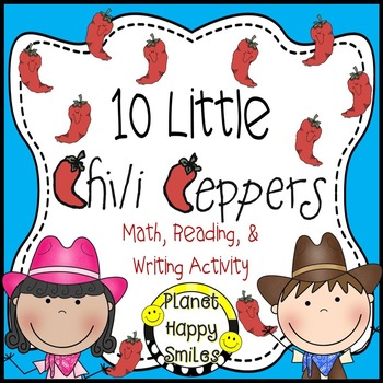 Texas Chili Pepper Activity ~ Math, Reading and Writing Ac
