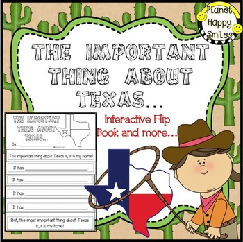 Texas Writing Activity ~ The Important Thing about Texas